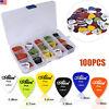 Guitar 100Pc Acoustic Electric Guitar Pick Plectrum Mixed Assorted Colors W/ Box