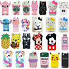 3D Cartoon Soft Silicone Cases Cover For iPod Touch 7 6 iPhone XS 11 8 7 6s Plus