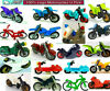 Lego Minifigure Motorcycle Sport Bike Dirt Bike Scooter Ninja Police Bicycle New