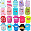 Summer Various Puppy Pet Dog Cat T-Shirt Vest Shirt Small Dog Clothes Costume