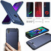 Motorola One Macro Case Shockproof TPU Bumper Protective Cover Silicone PC Blue