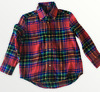 RALPH LAUREN POLO TODDLER BOYS RED MULTI PLAID FLANNEL LONG SLEEVE SHIRT3T NEW