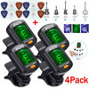 4X Digital Chromatic LCD Clip-On Electric Tuner for Guitar Bass Ukulele Violin