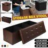 43'' 30'' 15'' Faux Leather Folding Storage Ottoman Seat Footstool Bench