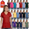 Hanes Womens T-Shirt 100% Cotton 4.5 oz Short Sleeve V-Neck nano Tee S04V
