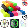 72Pcs Motorcycle Dirt Bike Spoke Skins Covers Wraps Wheel Rim Guard Protector US