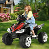 12V Kids Ride On ATV Car Quad Electric Toy 4 Wheeler With LED Headlights