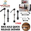 Quick Release Front Rear Bicycle Axle Skewer Set For MTB BMX Bike Wheel Hub Pair