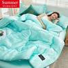 Ice Silk Air Conditioning Thin Quilt Adult  High Density Bedding Queen King Size