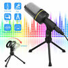3.5mm Condenser Microphone Tripod Stand PC Game Chat Studio Audio Recording Mic