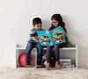 3 Kid's Wooden Storage Bench - White
