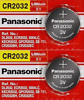 2 x SUPER FRESH Panasonic CR2032 CR 2032 Lithium Battery 3V Coin Cell Exp. 2030