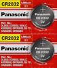 2 x SUPER FRESH Panasonic CR2032 CR2032 Lithium Battery 3V Coin Cell Exp. 2030