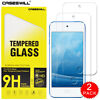 For Apple iPod Touch 5 6 7th Gen - HD Clear Tempered Glass Screen Protector X2