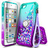 For iPod Touch 5th 6th 7th Gen Case Liquid Glitter Bling Cover +Screen Protector
