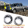 Chrome Front Fog Light Lamp Molding Covers Trims For 2005-2019 Nissan Frontier
