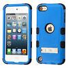 iPod Touch 5th 6th & 7th Gen - Hybrid Dual Armor Impact Skin Case BLUE BLACK