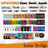 Guitar Strings Acoustic/Electric Ernie Ball Fender Elixir DAddario Light Set Lot