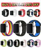 Silicone Bracelet Nylon Band Strap Sport For Apple Watch iWatch Series 234 5 6 7