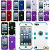 For iPod Touch 5th 6th 7th Gen - Hard&Soft Rubber Hybrid Armor Impact Case Skin