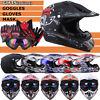 DOT Adult Helmet Youth Kids Motorcycle Full Face Offroad Dirt Bike ATV S M L XL