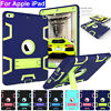 For Apple iPad Pro 9.7'' 2018 Rugged Rubber Armor Hybrid Stand Cover