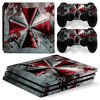 PS4 Pro Playstation 4 Console Skin Decal Sticker Resident Evil Custom Design Set