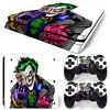 PS4 Slim Playstation 4 Console Skin Decal Sticker The Joker Design Custom Set