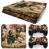 Ps4 Slim Playstation 4 Console Skin Decal Sticker Sniper Camouflage Custom Set