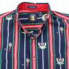GANT Salty Dog Tennis Club Shirt Mens sz LARGE Striped Imperial Poplin