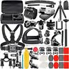 Camera Accessory Kit for GoPro Hero Max 9 8 7 6 5 Session 4 3+ 3 2 1 Black NEW