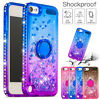 Bling Glitter Quicksand Rubber Case Cover for iPod Touch 7th 5th 6th Generation
