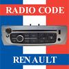 Instant Radio Code Cars Renault PIN Unlock Car Scenic Clio Megane Kangoo Laguna