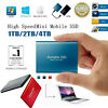 USB 3.1 High Speed Solid State Mobile External SSD Hard Drive Disk 1TB 2TB 4TB