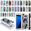 For Samsung Galaxy S7 Edge G935 Studded Sparkle HYBRID Case Phone Cover + Pen