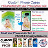 Custom Phone Case Cover Personalized Photo image logo gift fits iPod 5th Gen.