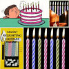 Magical Candles Blown Out of The Candle Birthday April Fool's Day Spoof