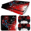 PS4 Slim Playstation 4 Console Skin Decal Sticker Spider-Man SuperHero Design