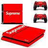 PS4 Supreme Skin Sticker for Sony PS4 PlayStation 4 Console and Two Controller