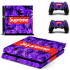 Supreme Sticker PS4 Vinyl Skin Set for Playstation 4 Console & 2 Controller