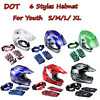 DOT Youth Kids Helmet Dirt Bike ATV Motocross Off-Road S/M/L/XL Goggles Gloves