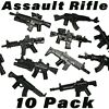 Brick Minifigures Assault Rifle Lot Minifigure SWAT Weapons Military Army Toy
