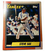 Vintage Duo Tang MLB New York Yankees Steve Sax 2 Pocket Folder Made In USA 1990