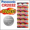 10pcs Original Panasonic Cr2032 2032 3v New Battery Button Batteries Cell Coin