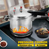 4L Aluminum Pressure Cooker With Steamer Kitchen Fast Cooker Canner Pot Cookware