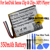 323036 350mAh Battery Replacement For SanDisk Sansa Clip / Clip+ MP3 Player