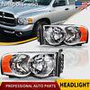 for 2002-2005 Dodge Ram 1500 2500 3500 Chrome Headlights Headlamps Left+Right