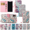 Magnetic Pattern PU Leather Card Holder Wallet Case Flip Cover For iPhone Phones