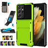 For Samsung S21 S20 Ultra Plus S10e S9 S8 Note 20 10 9 8 Card Holder Wallet Case