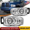 for 2002-2005 Dodge Ram PICKUP 1500 2500 3500 Headlights Chrome Lamps Left+Right